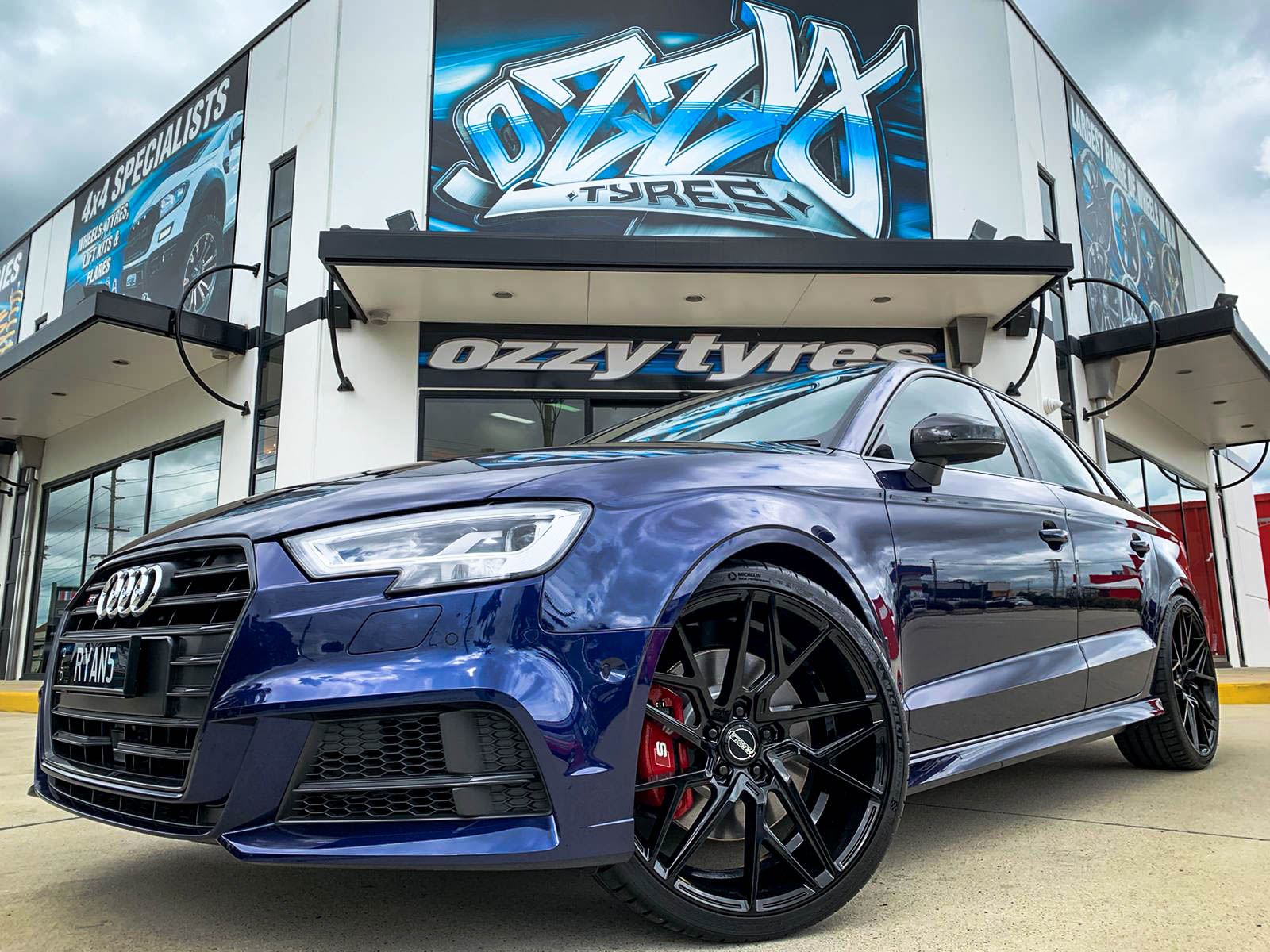 Audi s3 on hussla jacques gloss black 2 of 4