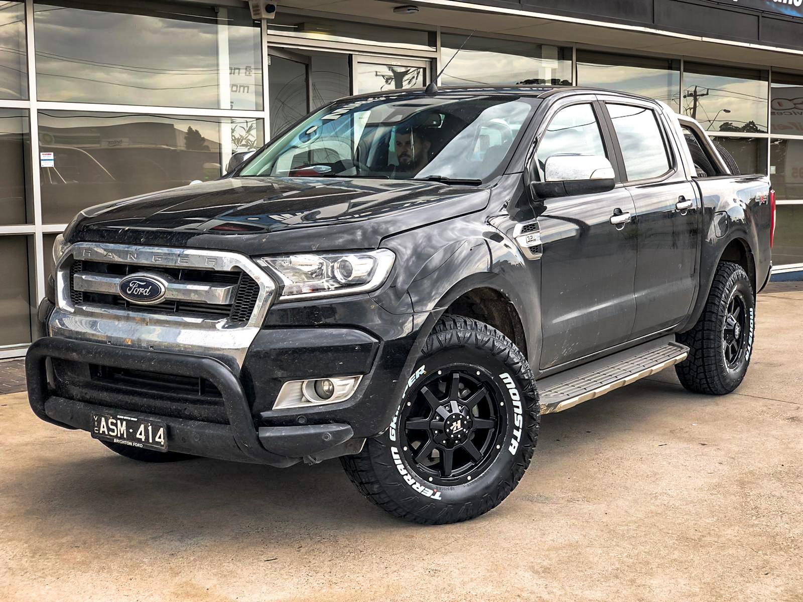 Ford rannger on hussla stealth matte black 2 of 4