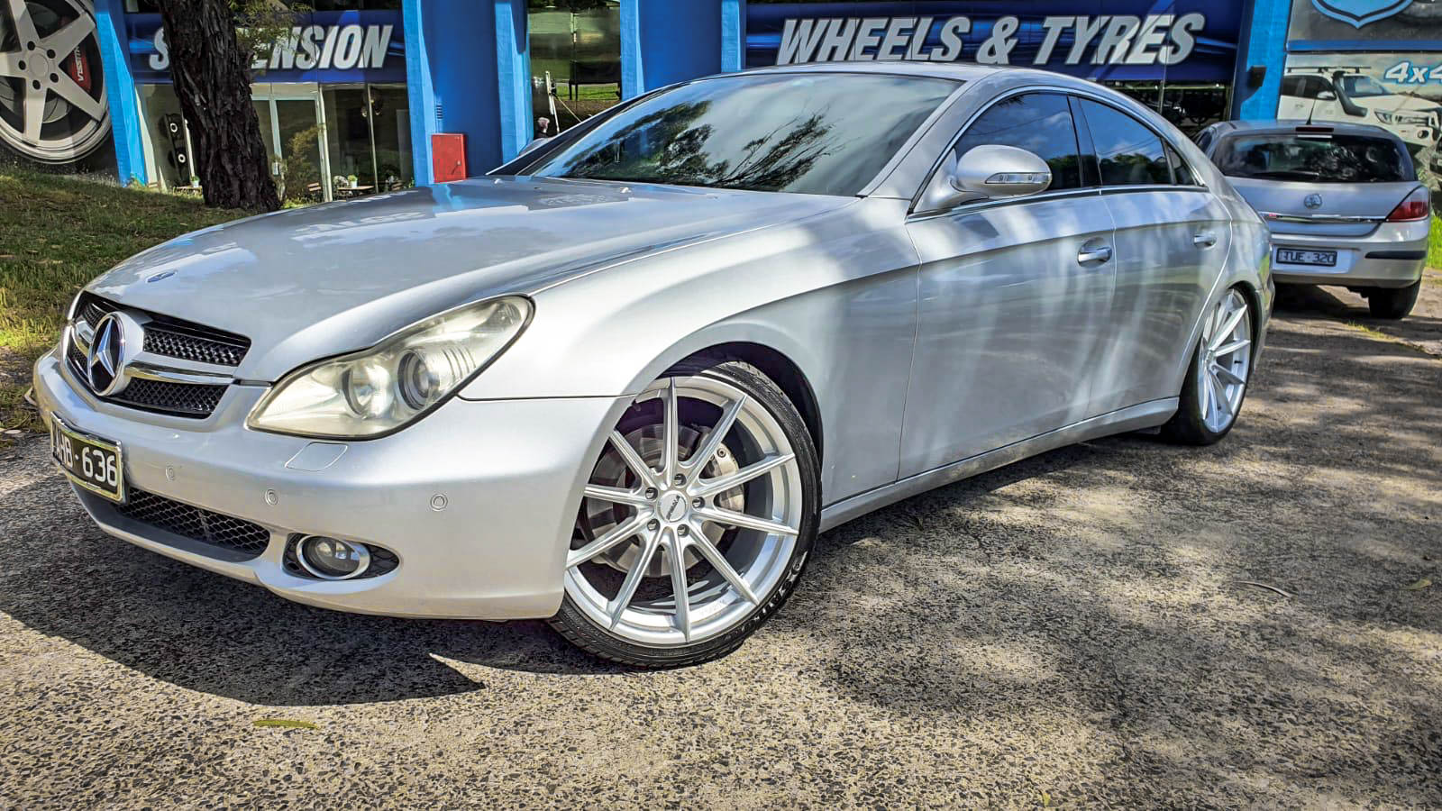 Mercedes benz cls 250 on hussla moz bright silver 1 of 4