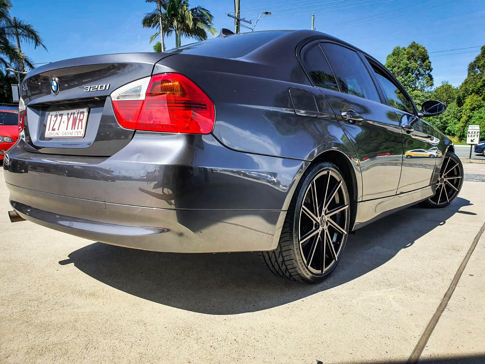 BMW 320i on hussla alz dark tint (3 of 4)