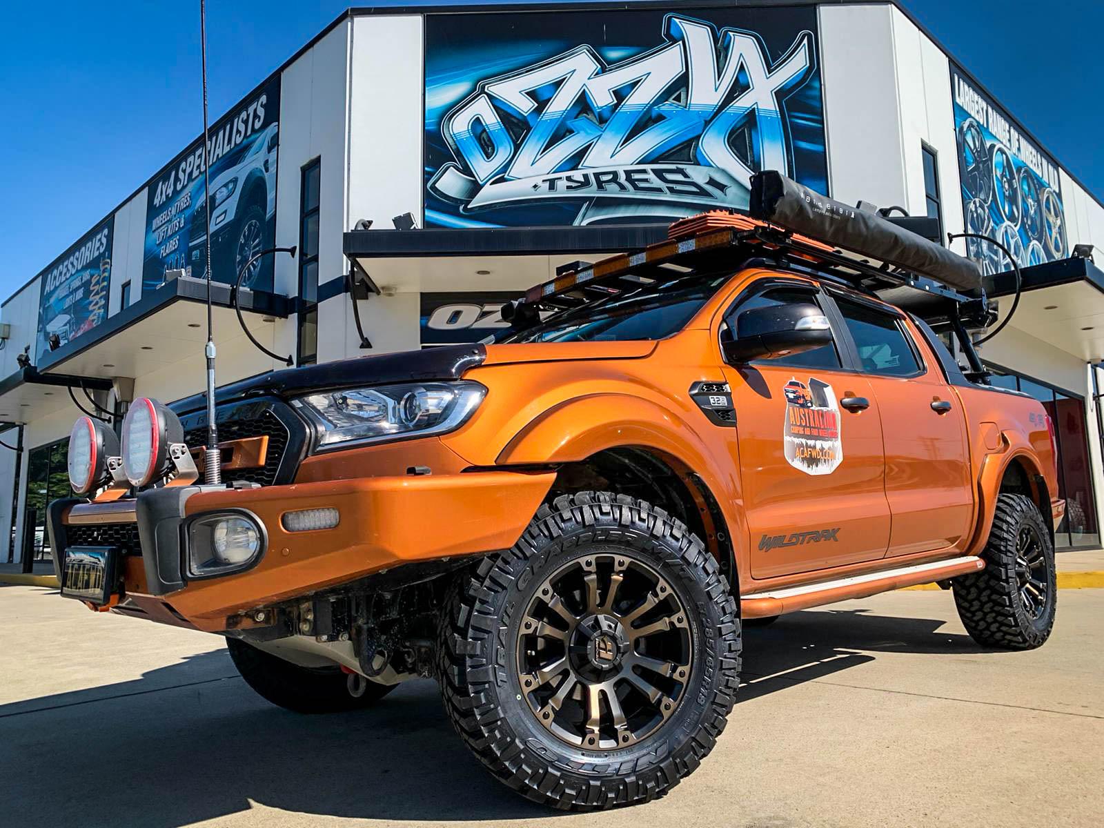 Ford ranger on hussla ambush bronze tint7