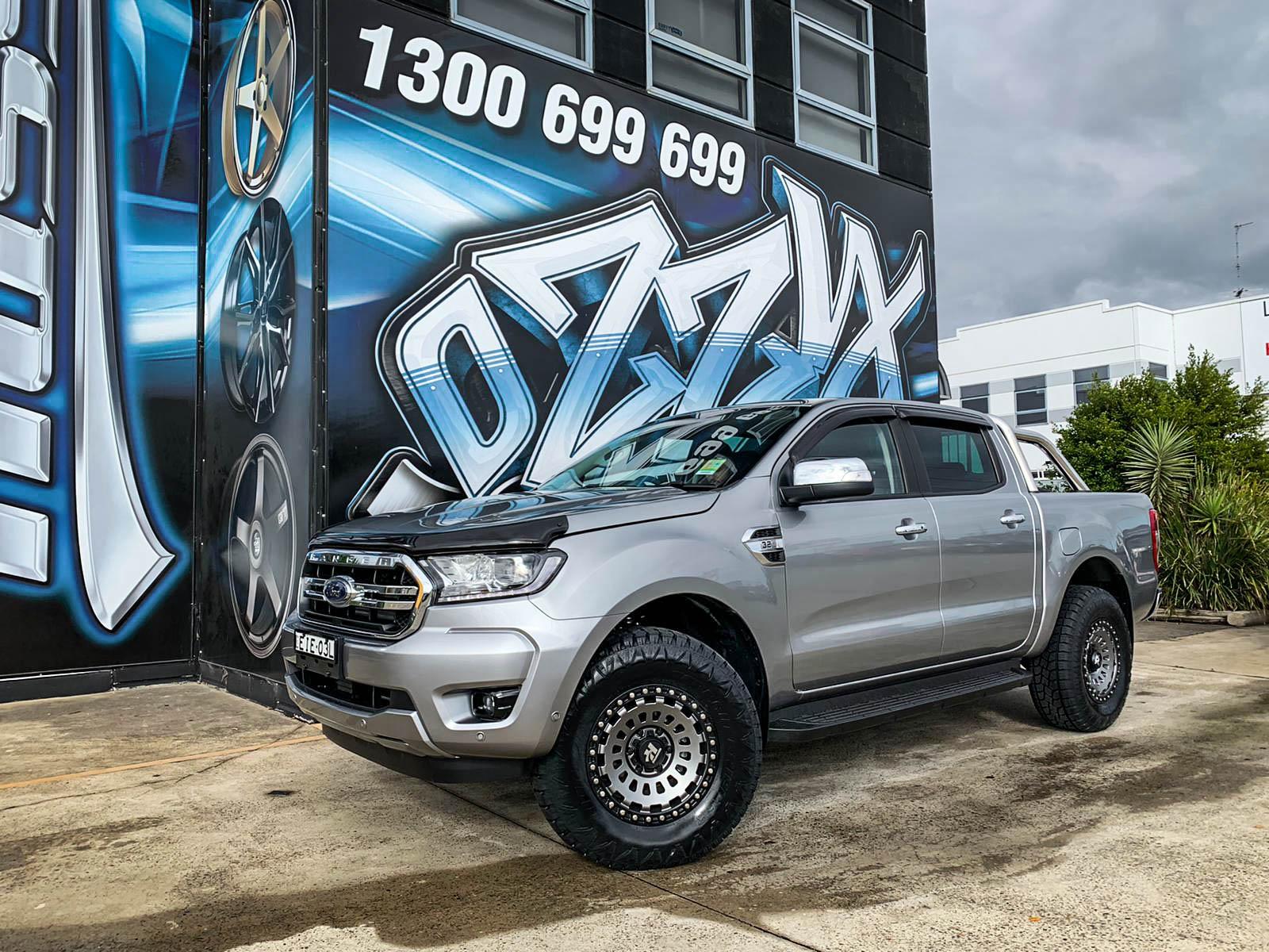 Ford ranger on hussla strikeforce matte grey1